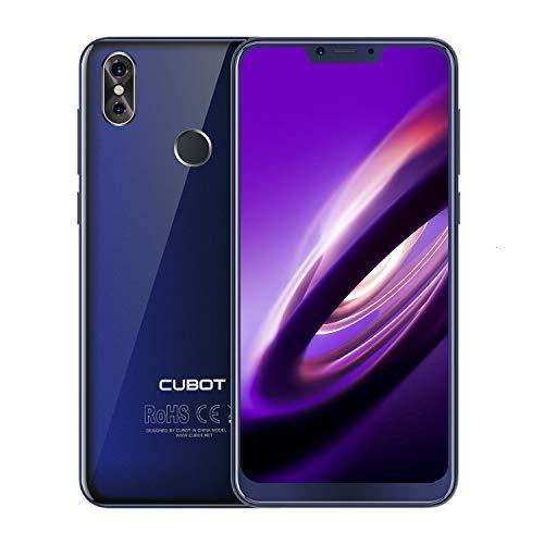 CUBOT P20 6.18 Pollici FHD Smartphone, 2K Risoluzione, 4GB RAM 64GB ROM, Batteria 4000mAh, Supporto Impronte Digitali ID, Octa-Core, Dual SIM, 4G Cellulare Blu