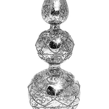 SIKORA-SP4Se-groe-ausgefallene-Christbaumspitze-aus-irisierendem-Klar-Glas-mit-Antik-SILBER-Dekor-H-30cm