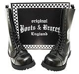 Boots & Braces - 14 Loch Stiefel Rangers Schwarz Größe 41 (UK7)