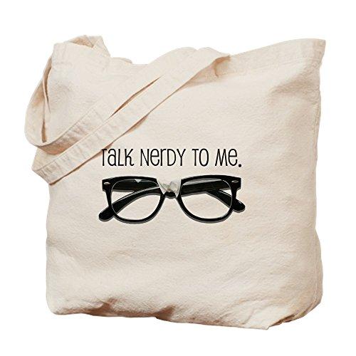 CafePress Talk Nerdy to Me <br>Tote Bag Tragetasche, canvas, khaki, S