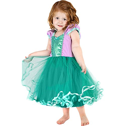 (Amphia - Kinder Carnival Tutu - Mesh Rock - Tutu Rock - Blumen-Baby-Prinzessin-Brautjungfern-Festzug-Geburtstagsfeier-Show-Hochzeits-Kleid)