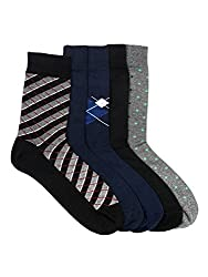 Arrow Mens Calf Length Soft Combed Cotton Socks Pack of 5 Pair