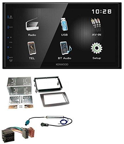 caraudio24 Kenwood DMX110BT Bluetooth MP3 USB Aux 2DIN Autoradio für Alfa Romeo Mito ISO 955 08-14 Silber