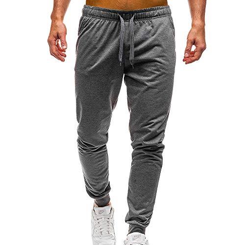 Geili Sporthose Herren Lang Männer Modern Einfarbige Taschen Kordelzug Jogginghose Slim Fit Gym Yoga Trainingshose Freizeithose Arbeitshose 5 Farben - Asymmetrische Tasche