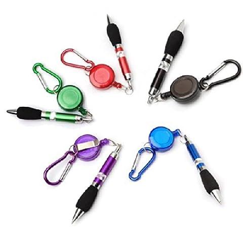TinkSky 3-in-1 Handy Retractable Badge Reel Pen Belt Clip Keychain