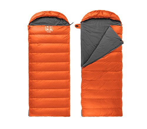 Naturehike Piumino Campeggio Sacchi a pelo Busta Sacchi a pelo Down Sleeping Bag (Orange)
