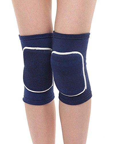 Itoda 1coppia bambini ginocchiere ginocchiera traspirante Thicked ginocchia brace Protector Pad Crash flessibile antiscivolo spugna ginocchiera sostegno per gattonare Dancing pallavolo sport, Blue, S(Age 3-6)