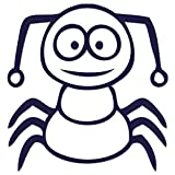 JasonCarlMorgan JCM Graphics Aufbügelbild mit lustigem Cartoon-Insektenmotiv 19 cm marineblau