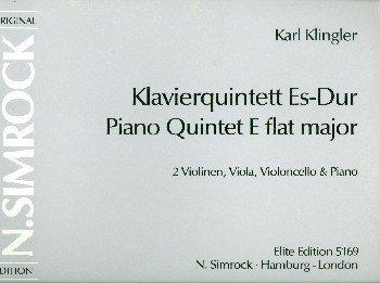 Klavierquintett Es-Dur: Klavierquintett. Partitur und Stimmen. (Simrock Original Edition)
