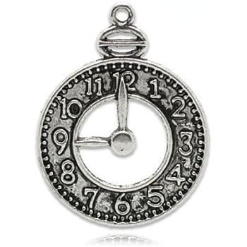 Angelhaken Paket 4 x Antik Silber Tibetanische 38mm Charms Anh/änger ZX10995 - Charming Beads -