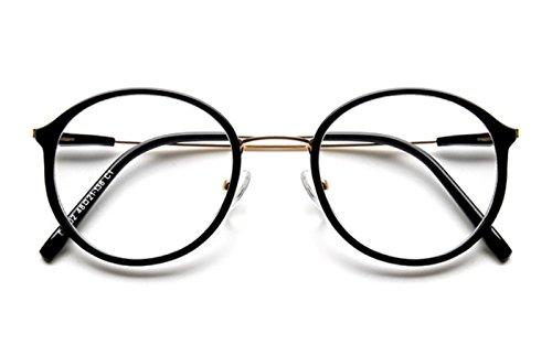 brillengestell Brillenfassungen Brillen Retro flacher Spiegel Anti-Blaulicht schwarzer Rahmen
