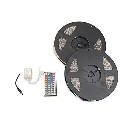 Sonline 10m impermeabile 2x5m 5050 SMD 600 LED RGB striscia flessibile Luce+ 44 chiave telecomando per la decorazione di illuminazione, l'illuminazione del display, nell'ambito dell'illuminazione dell'armadietto, controluce, luce 12V