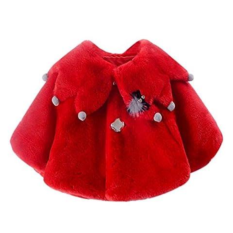 Familizo Bébé Mode Chemisier, Chaud Manteau Pour L'automne Hiver (Rouge,