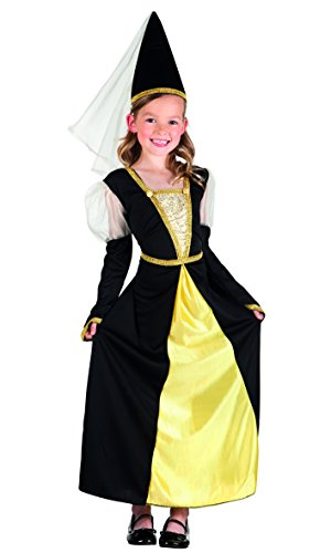 Boland 82232 - Kinderkostüm Lady Isolde, schwarz