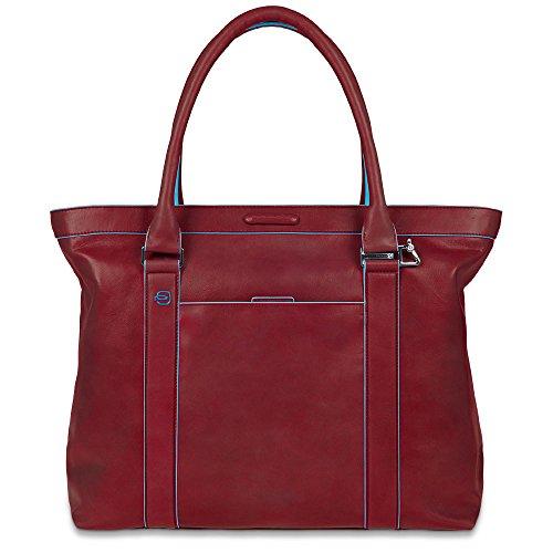 Piquadro BD3145B2 Shopping, Collezione Blu Square, Rosso