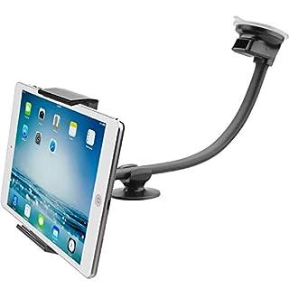 APPS2Car Car Tablet Saug Windschutzscheibe Halterung w/Super Flexible Long Arm 13 Zoll Schwanenhals Kompatibel mit 7-11 Zoll iPad & Android Tablet, Smartphones