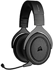 Corsair HS70 Bluetooth Cuffie da Gioco Multipiattaforma, Audio del Gioco e Discussione in simultanea, Compatib