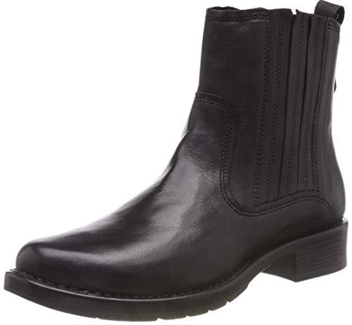 camel active Damen Bright 71 Biker Boots, Schwarz (Black 1), 40 EU