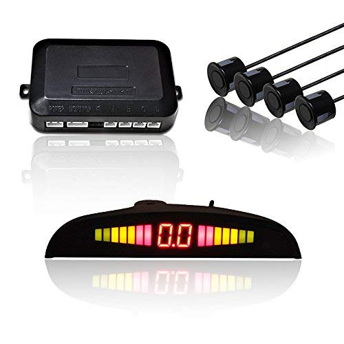 Hengda Auto Einparkhilfe 4 Sensor Alarm Parkhilfe Rückfahrwarner Parksensoren PDC KFZ schwarz