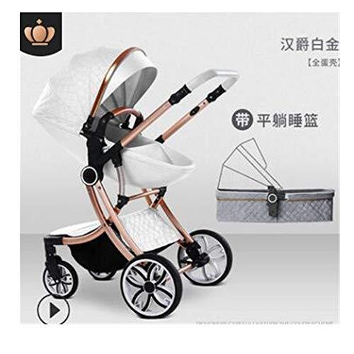 Strolex Sommer-Kinderwagen kann sitzen und Falten, leicht und hohe Landschaft, 2-Wege-Neugeborenen-Schock, 4-Räder, für Kinder von 1-4 Jahren (Neugeborene Kinderwagen Leichte)