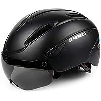 Fahrradhelm,CE-Zertifikat,Fahrradhelm mit Abnehmbarer Schutzbrille Visor Shield für Männer Frauen Mountain & Road Fahrradhelm Einstellbarer Sicherheitsschutz