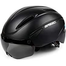 Casco Bicicleta/Casco Bici,Certificado CE,Casco Bici con Gafas magnéticas Desmontables Visor