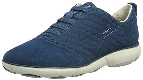 Geox Damen D Nebula A Sneaker, Blau (OCTANEC4024), 38 EU - Tr, Neue Trainer Schuhe