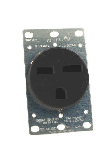 Leviton 061-05372-000 Power Receptacle 30 Amp 250 Volt Flush Mount by Leviton Leviton Flush