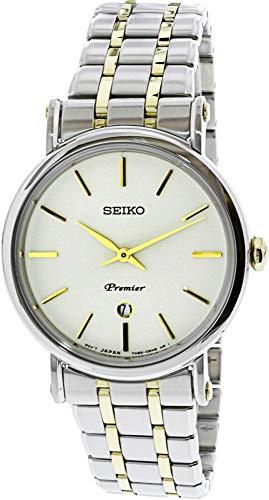 Seiko sxb438de las mujeres moda reloj de cuarzo japonés de acero inoxidable plateado