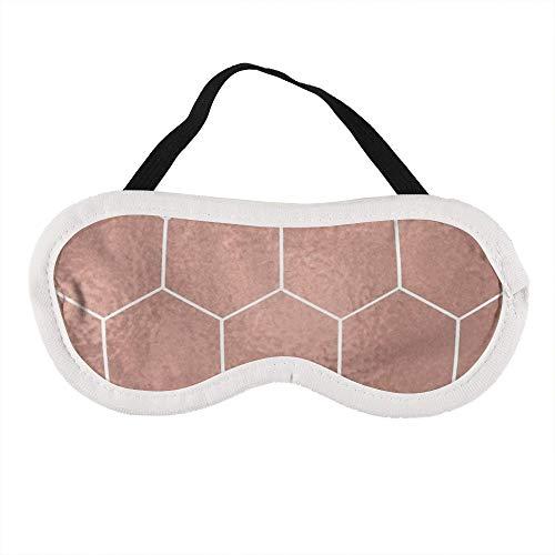 Tragbare Augenmaske für Männer und Frauen, New York Pink - Roségold Hexagons Die beste Schlafmaske für Reisen, Nickerchen, geben Ihnen die beste Schlafumgebung