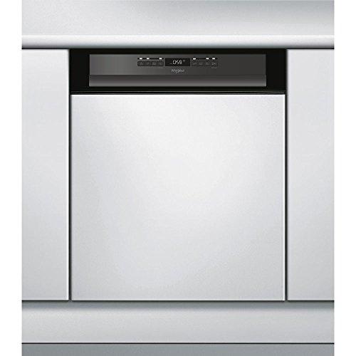 Whirlpool WBO 3T123 PF B Semi intégré 14places A++ lave-vaisselle - Lave-vaisselles (Semi intégré, Noir, Taille maximum (60 cm), Noir, boutons, 1,3 m)