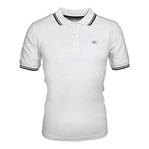 Alpha Industries Twin Stripe II Polo Shirt black/ white, Herren:XXL