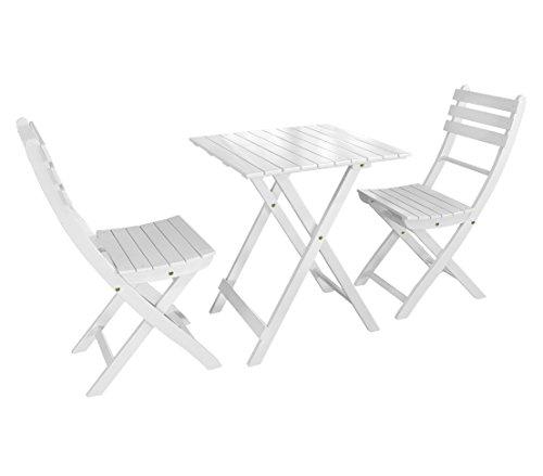 Dehner Balkonset Provence, Tisch ca. 71 x 60 x 60 cm, 2 Stühle je ca. 86 x 50 x 40 cm, FSC...