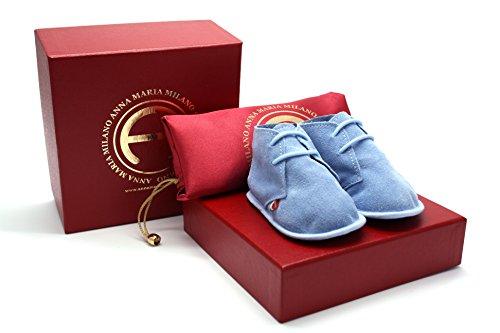 Anna Maria Milano - Nuvoletta Azzurra - scarpine neonato - taglia 16 - colore azzurro