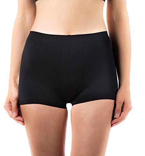 G3 5 x Ladies Microfibre Breathable Black High Waisted Boxer Shorts Boyshorts Womens Underwear Ltd Range by