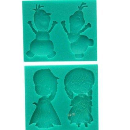 Frozen Anna Elsa und Olaf Silikon für Fondant Schokolade Form Candy Form