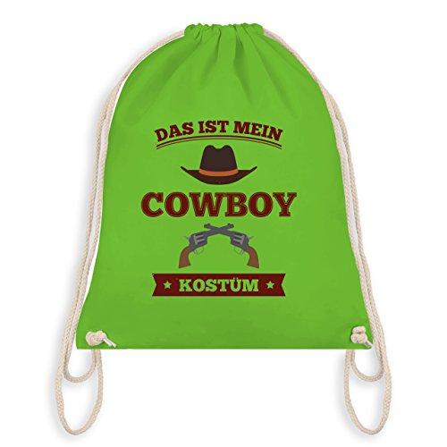 Carnevale E Carnevale - Questo È Il Mio Costume Da Cowboy - Borsa Da Palestra E Borsa Da Ginnastica Verde Chiaro