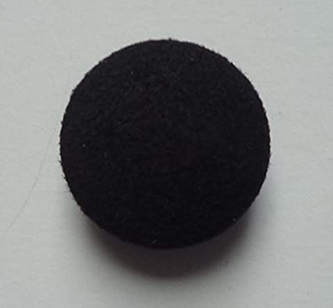 Leather Covered Button 28mm Dark Brown Suede