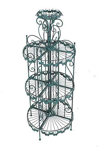 nxtbuy Deko-Regal mit Schmetterlingsmotiv - Garten Blumensäule aus pulverbeschichtetem Metall in...