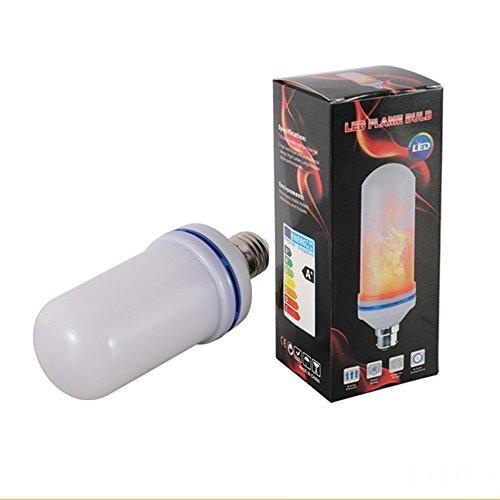 Escomdp Flame Bombilla LED con 3 Modelo E27 Base SMD Fuente LED para Atmósfera Festiva Iluminación, Iluminación Común (Dos piezas)
