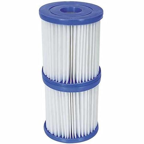 Bestway 58094 Cartouche de filtration pour piscines Taille II - 2 x Cartouches