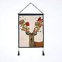 SDXGCFV Tela De 45 * 65 Cm. Arte De La Pintura, Decoración De La Tela, Tela, Tela Verde, Tela De Algodón Y Lino, Tela De La Navidad, A3.