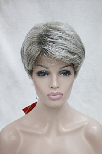urly Kinky Perücke Heiz Resistent Kunsthaarperücke Mia-Look Damenperücken Schwarze Root (Ihr Haar Wird Grau Halloween)