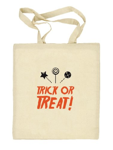 Shirtstreet24, Halloween - Trick Or Treat, Kostüm Stoffbeutel Jute Tasche Natur