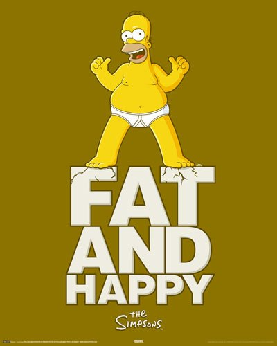 Poster Simpsons - fat and happy - Größe 40 x 50 cm...