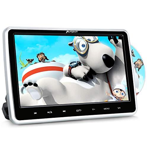 Pumpkin Lettore dvd auto per poggiatesta 10.1 pollici schermo, Regione free, Supporta USB/SD/AV-in/AV-out/cavo AUX, 18 mesi di garanzia