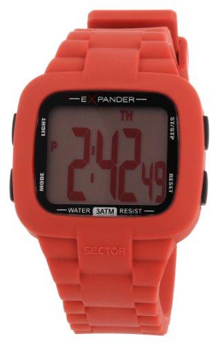 Sector R3251472315 - Reloj digital unisex de cuarzo con correa de silicona roja