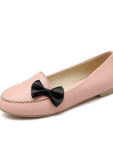 ZQ gyht Scarpe Donna-Ballerine-Casual-Comoda / Punta arrotondata-Basso-Finta pelle-Nero / Rosa / Bianco , black-us7.5 / eu38 / uk5.5 / cn38 , black-us7.5 / eu38 / uk5.5 / cn38 pink-us10.5 / eu42 / uk8.5 / cn43
