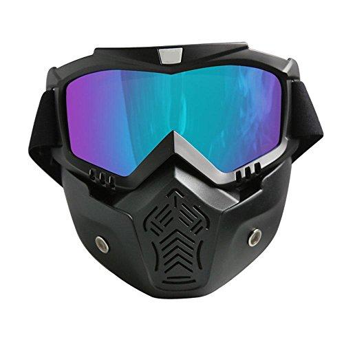 XNPP Schutzbrille Gesichtsmaske Helme Madbike Motorrad Motocross Mund Filter für Vintage Helme , color film (Mädchen Ghostbuster Kostüme)