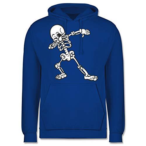 Shirtracer Halloween - Dabbing Skelett - M - Royalblau - JH001 - Herren Hoodie